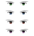 Anime male eyes vector image vector image