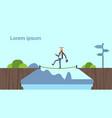 arab businessman leader going tightrope balancing vector image vector image