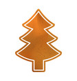 baked christmas tree sweet classic cookie vector image vector image