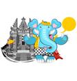 Balinese Ganesha Blue Elephant vector image