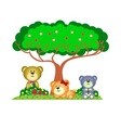 Bear family playing in the park vector image