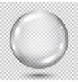 Big transparent gray sphere vector image