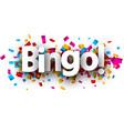 bingo card with colorful confetti vector image