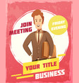 business meeting poster vector image vector image