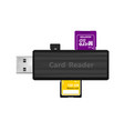 card reader for reading memory cards in car vector image vector image