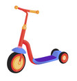 cartoon cute color kick scooter push scooter vector image vector image