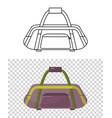 childish cute bag for trips wheeled child handle vector image vector image