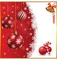 Christmas and snow background vector image vector image