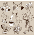Christmas collection of design elements vector image vector image