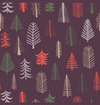 christmas trees background seamless pattern vector image