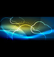 cloud computing storage concept vector image