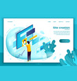 concept site creation process vector image