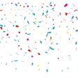 Confetti background for holidays party vector image vector image