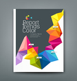 Cover report trends colorful geometric year design vector image