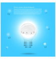 Creative Template with lamp bulb symbols vector image vector image