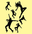 dance silhouette set vector image vector image
