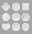 dishware realistic pictures of various vector image