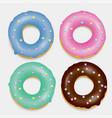 donut set hand drawn bakery design pop art vector image vector image