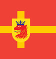flag of scania is the southernmost province of vector image vector image