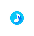 flat music note icon design music note symbol vector image