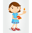 Girl with lighted match vector image vector image