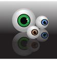 glass eyeballs vector image