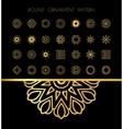 Gold mandala on black background vector image vector image