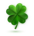 green four leaf clovers irish lucky and success vector image vector image