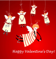 happy valentines day angels vector image vector image