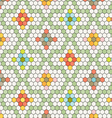hexagon tile pattern vector image vector image