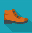 hiking boots icon flat vector image vector image