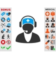 Hospital Receptionist Icon vector image vector image