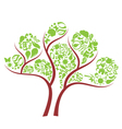 icon eco tree vector image