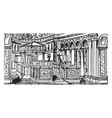 interior of st clemente roman architecture vector image vector image