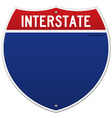 Isolated interstate sign vector | Price: 1 Credit (USD $1)