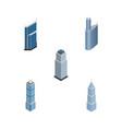 isometric skyscraper set of apartment exterior vector image vector image