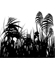jungle silhouette vector image vector image
