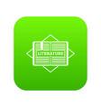 literature icon green vector image