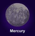 mercury icon isometric style vector image vector image