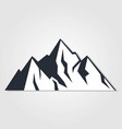 mountains icon isolated on white background vector image vector image
