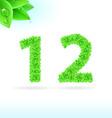 Natural leaf font 1 6 YS 01 vector image vector image