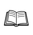 open book icon in line style pictograph of vector image