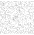 Outlined floral pattern vector image