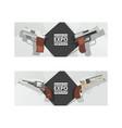 pistols western gun cowboys retro revolver vector image vector image