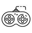 play joystick icon outline style vector image vector image