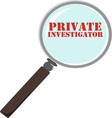Private Investigator vector image vector image