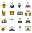 Public speaking icons vector image