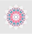 retro arabesque geometric plygonal mandala vector image vector image