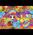 seamless pattern with kawaii sport items vector image