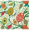 seamless spring pattern with easter eggs vector image vector image